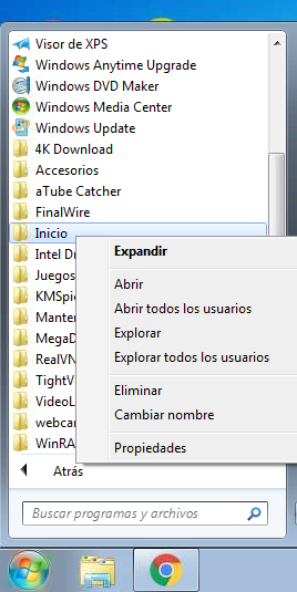 hacer que un programa se ejecute al iniciar windows 7