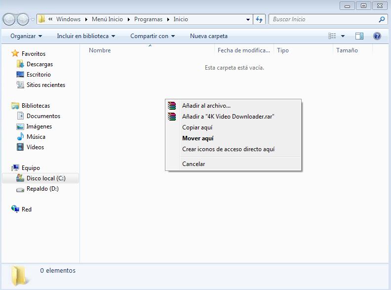 hacer que un programa se ejecute al iniciar windows 7